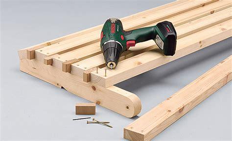 Garten Klappbank Holz klappbank bauen klapp m 246 bel selbst de
