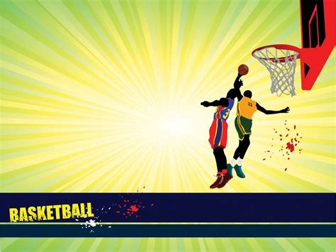 Sports Basketball Powerpoint Templates Blue Red Sports Yellow Free Ppt Backgrounds And Athletic Powerpoint Templates