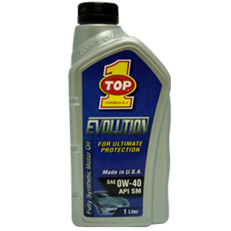 Oli Top1 Evolution Sae 5w 40 Api Sm Fully Synthetic Made In Usa 1liter products 171 top 1