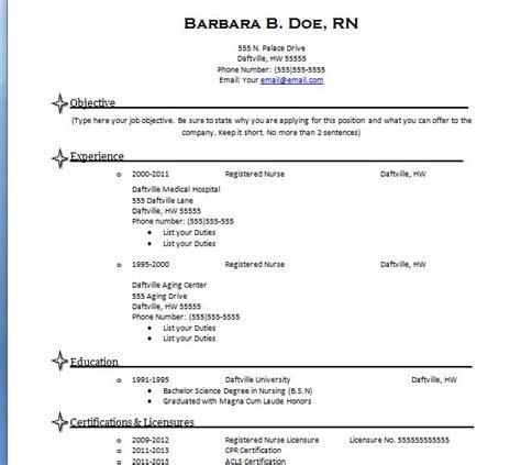 How To Create A Nursing Resume nursing resume template resumes nursing