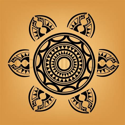 maori polynesian style tattoo stock vector colourbox