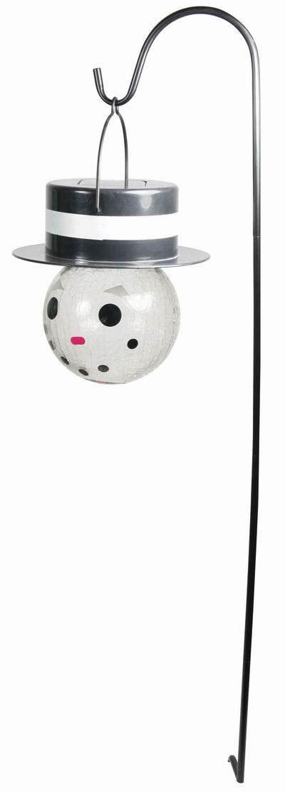 China Led Solar X Mas Snowman Ball Light Solar Christmas Solar Snowman Lights