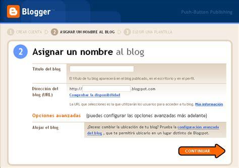 tutorial crear blog en blogger crear un blog nuevo