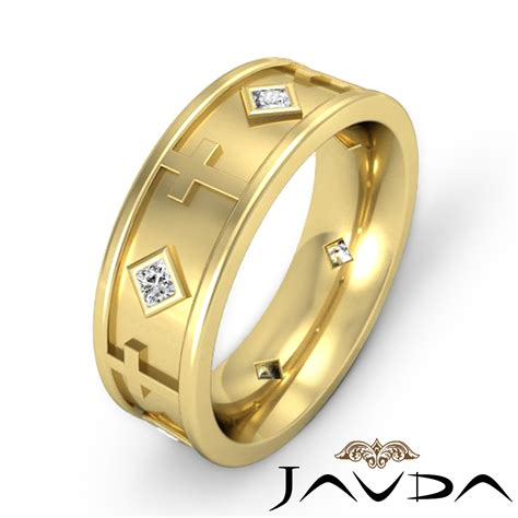Wedding Bands With Crosses by Princess S Ring 14k Yellow Gold Cross Eternity