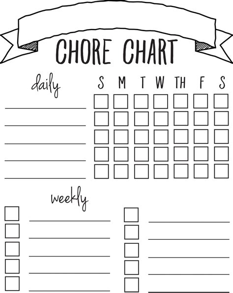Diy Printable Chore Chart Sincerely Sara D Chore Chart Template