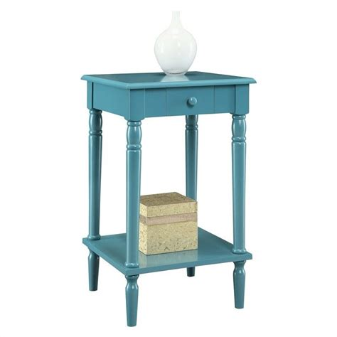 blue accent table end table blue 6053185be