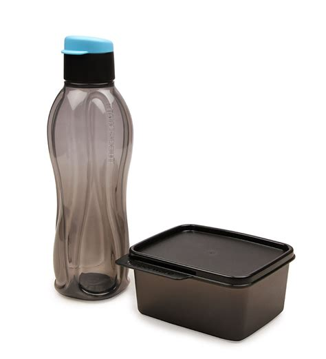 Xtreme Bottle Tupperware buy tupperware xtreme set of 1 bottle and 1 container with lid black bottles dining