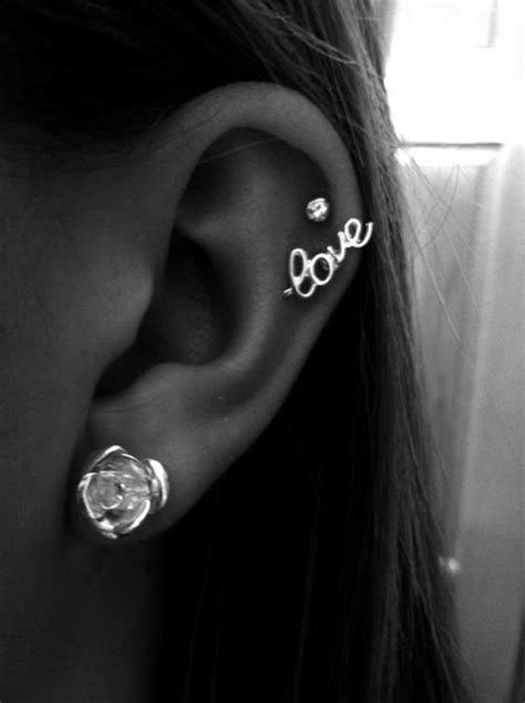 ear piercing ideas tumblr ear piercings tumblr hair sublime com