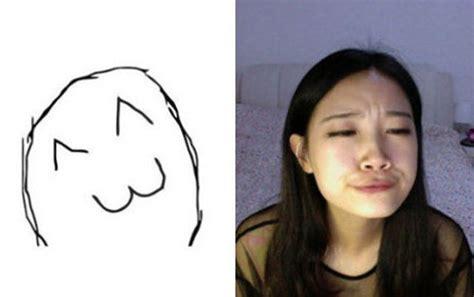 girl making meme faces fun