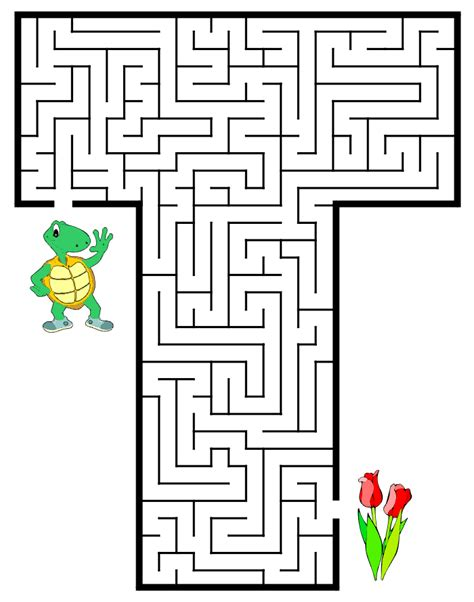 printable maze sheets free coloring pages of activities letter t