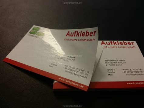 Visitenkarten Aufkleber Bestellen by Aufkleber Visitenkarten Ab 10 St 252 Ck Papier Gl 228 Nzend Mit