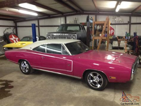 pink charger for sale 1970 dodge charger 500 se 383 panther pink restored rust