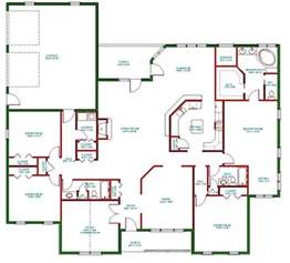 single floor home plans traditional ranch house plan single level one story ranch