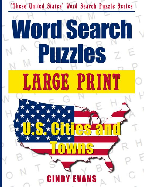 and large print books large print u s cities word search puzzle book word