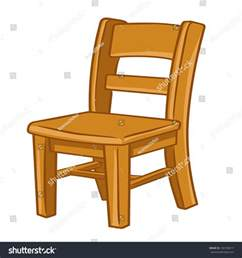 on chair wood chair isolated illustration on white stock vector