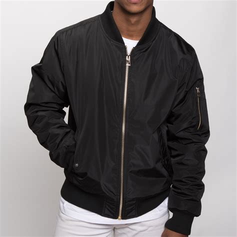 Jaket Bomber Black mens bomber jacket black 17605