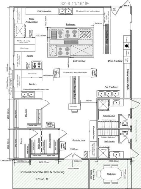blueprints  restaurant kitchen designs