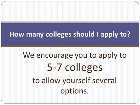 get ready for college applications ppt