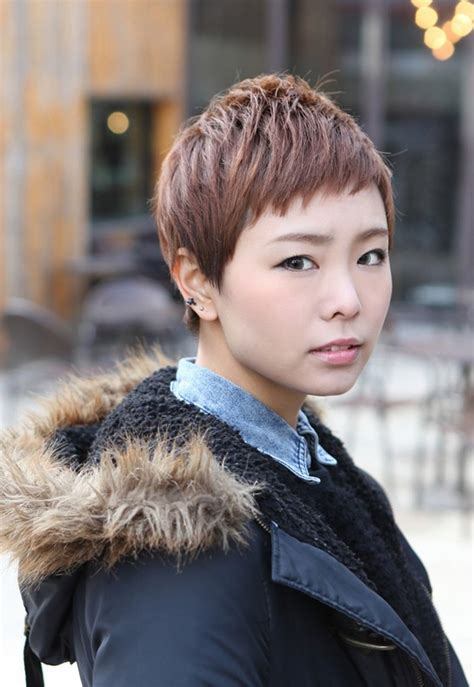 boyish hairstyles for layered boyish hairstyle asian brown