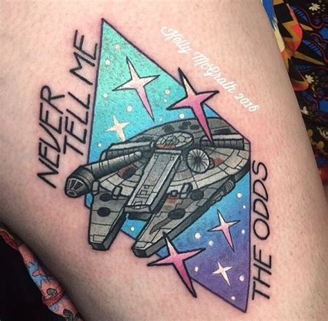 millennium falcon tattoo 45 most ironic wars tattoos designs