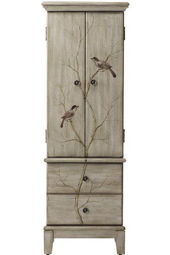 chirp jewelry armoire hxwxd pewter buy