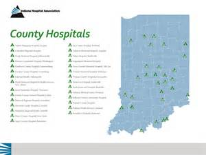 map of hospitals county hospitals map