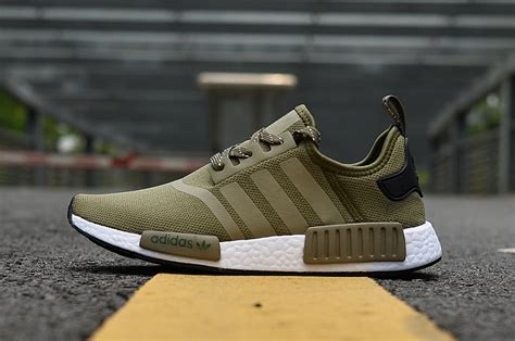 dependable adidas nmd  runner brown white mens womens