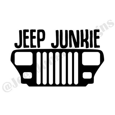 jeep grill sticker jeep junkie wrangler yj decal jeep decal jeep wrangler