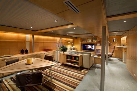 Basement Renovation Ideas Low Ceiling Lower Level Living Midcentury Basement Philadelphia By Princeton Design Collaborative