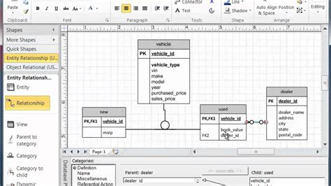 visio database model visio subtype supertype modeling