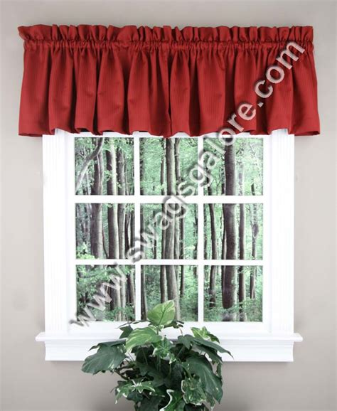 Burgundy Kitchen Valances Metro Tailored Woven Valance Burgundy United Kitchen