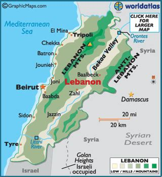 beirut on world map lebanon map geography of lebanon map of lebanon