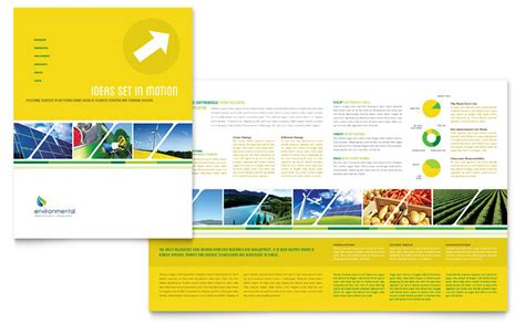 Environmental Conservation Brochure Template Word Publisher Microsoft Publisher Booklet Template