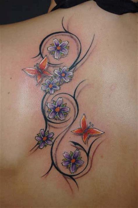 tattoo 3d effekt jennynascha blumen und schmetterlinge tattoos von