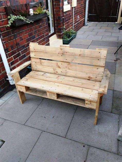 bench made out of pallets bench from old headboard footboard pallets