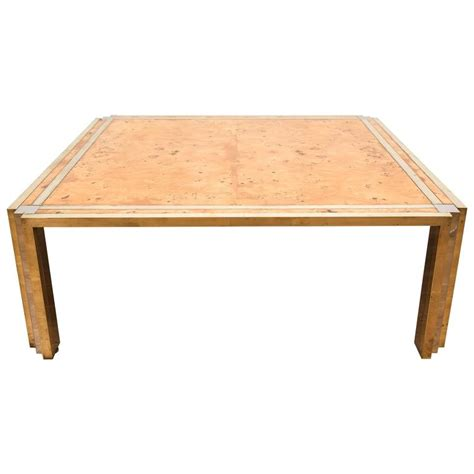 Maple Coffee Tables Birds Eye Maple Veneered Coffee Table In The Manner Of Milo Baughman For Sale At 1stdibs