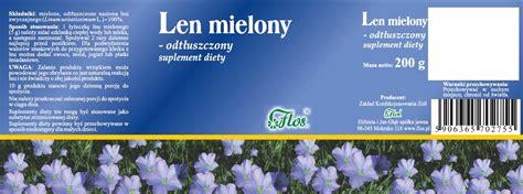 flos len len mielony odtłuszczony suplement diety 200 g flos zioła