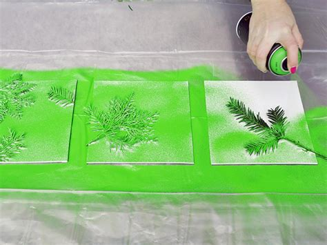 spray paint in wall turn leaves and foliage into diy canvas wall hgtv