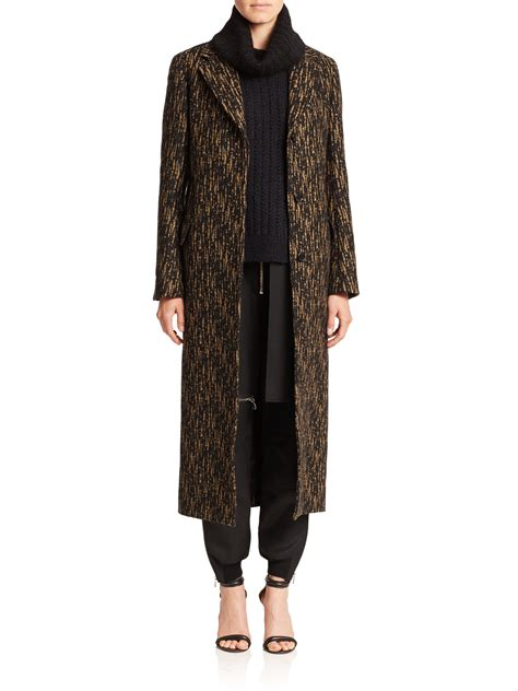 Two Tone Wool Bag With In 3 Colors lyst 3 1 phillip lim two tone wool blend coat in black