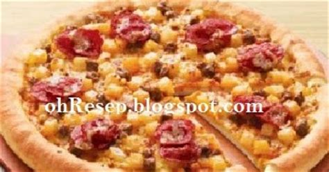 resep membuat pizza goreng resep cara membuat pizza ala pizza hut lezat resep