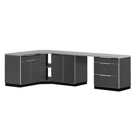 outdoor cabinets home depot newage products stainless steel classic 4 piece 110x36x76