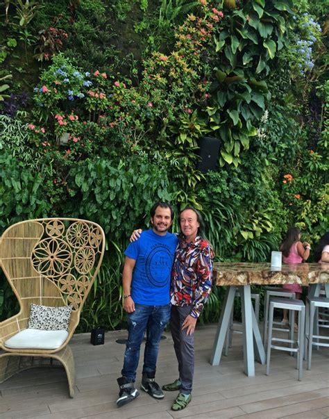 juvia restaurant miami vertical garden blanc