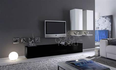 ensemble meuble tv design blanc laqu abibo plus