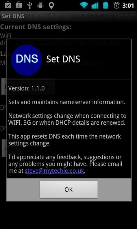set dns android set dns speed up android market using wifi