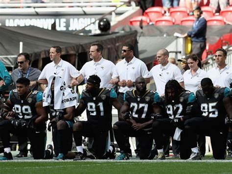 When Did The Jacksonville Jaguars Start Jaguars Players Lock Arms Some Kneel During National