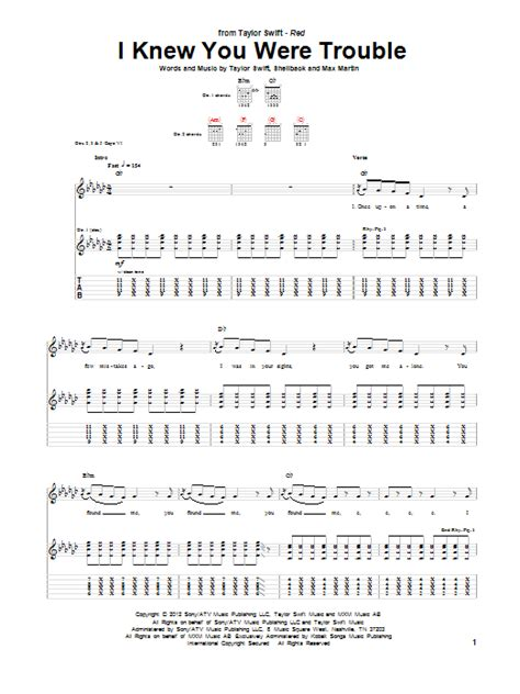 taylor swift i knew you were trouble music video mtv i knew you were trouble guitar tab by taylor swift guitar
