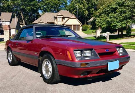 5 liter mustang 1986 ford mustang gt convertible 5 0 liter 5 speed all