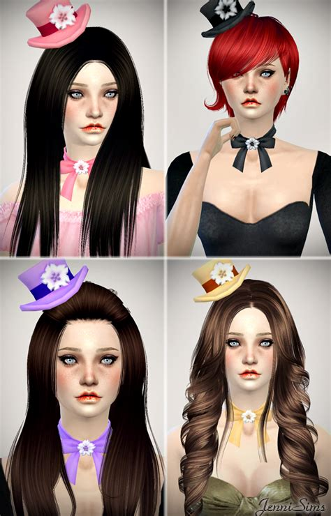 jennisims downloads sims 4 new mesh accessory sets bow jennisims downloads sims 4 new mesh accessory hats