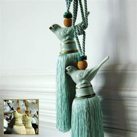 bird curtain holdbacks large luxury vintage ceramics bird curtain rope tie back