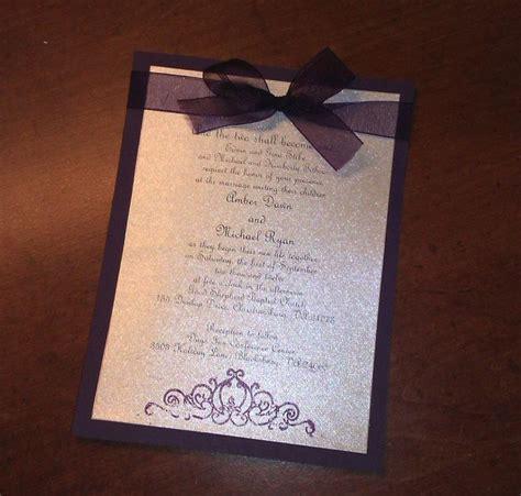 Wedding Invita by Wedding On Diy Wedding Invitations Purple